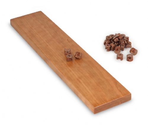 Sablon Minifix Cam (Color Cherry & Red Oak) Fitting & Dowel & Pre-insert Nut 50 Set Pack