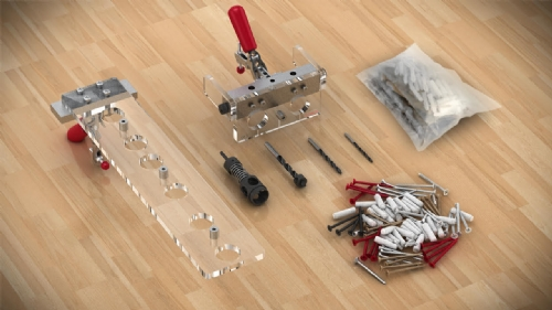 "Sablon Screw and Dowel Connection Jig 3/4"" (18-19mm) Panels"
